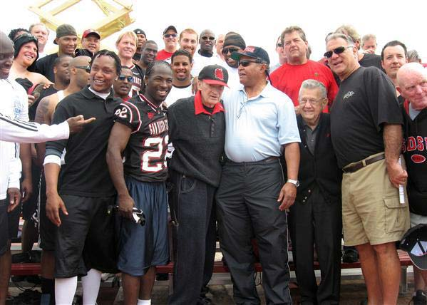 Coryell and Brietbard with generations of Aztecs